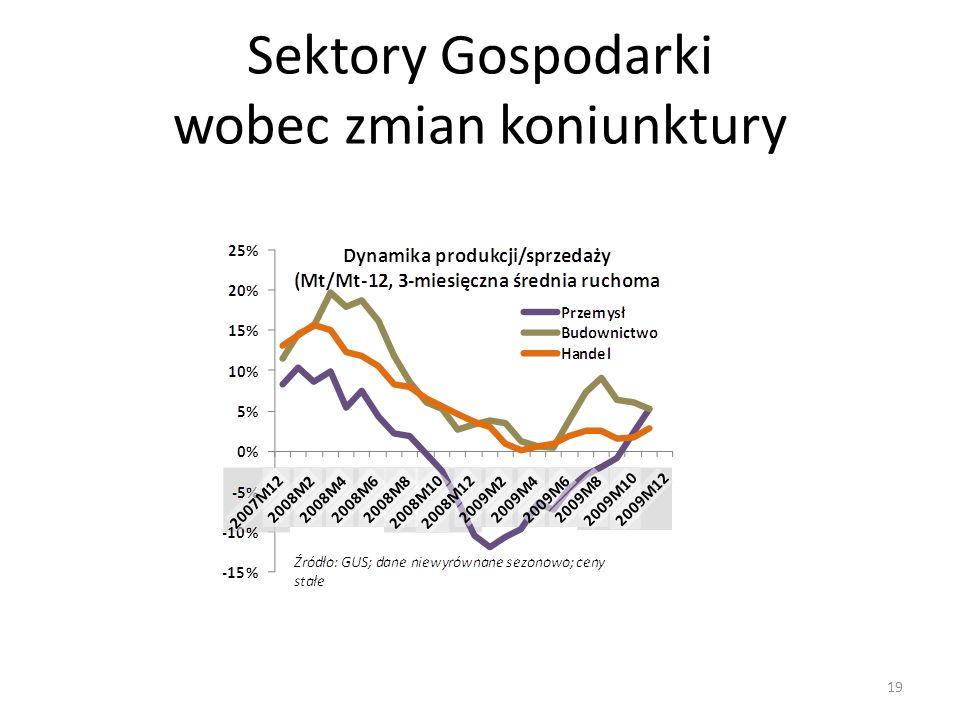 Sektory Gospodarki wobec zmian koniunktury 19