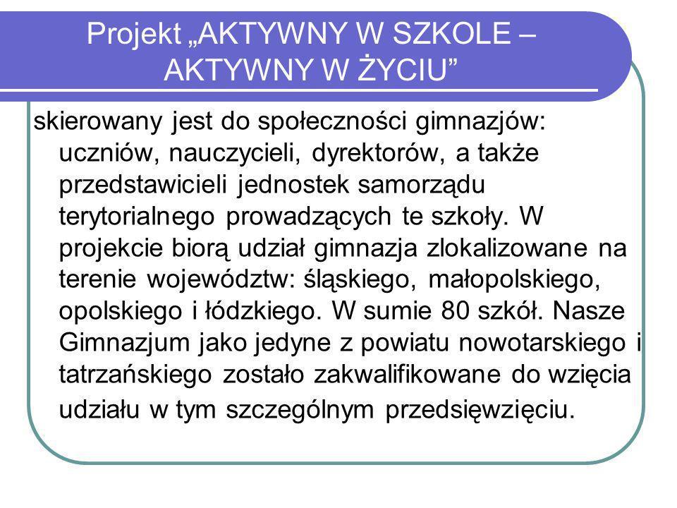 Zapraszamy do śledzenia strony internetowej gimnazjum: www.gim1.rabawyzna.pl Gdzie umieszczane są na bieżąco informacje z realizacji działań.