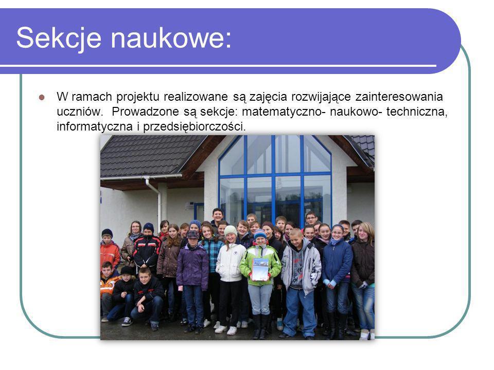 W ramach sekcji: Uczniowie zapoznali się z odnawialnymi źródłami energii.