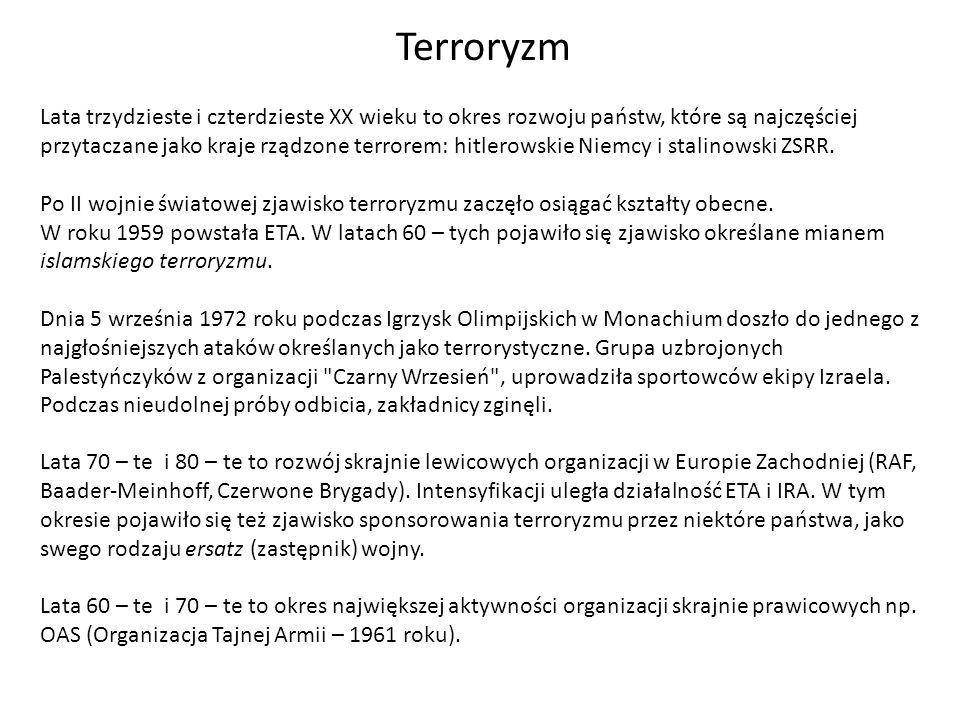Lata trzydzieste i czterdzieste XX wieku to okres rozwoju państw, które są najczęściej przytaczane jako kraje rządzone terrorem: hitlerowskie Niemcy i