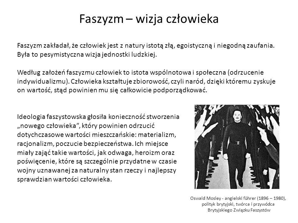 W pierwszej fazie swojego rozwoju ideologia faszystowska nie zawierała treści rasistowskich.