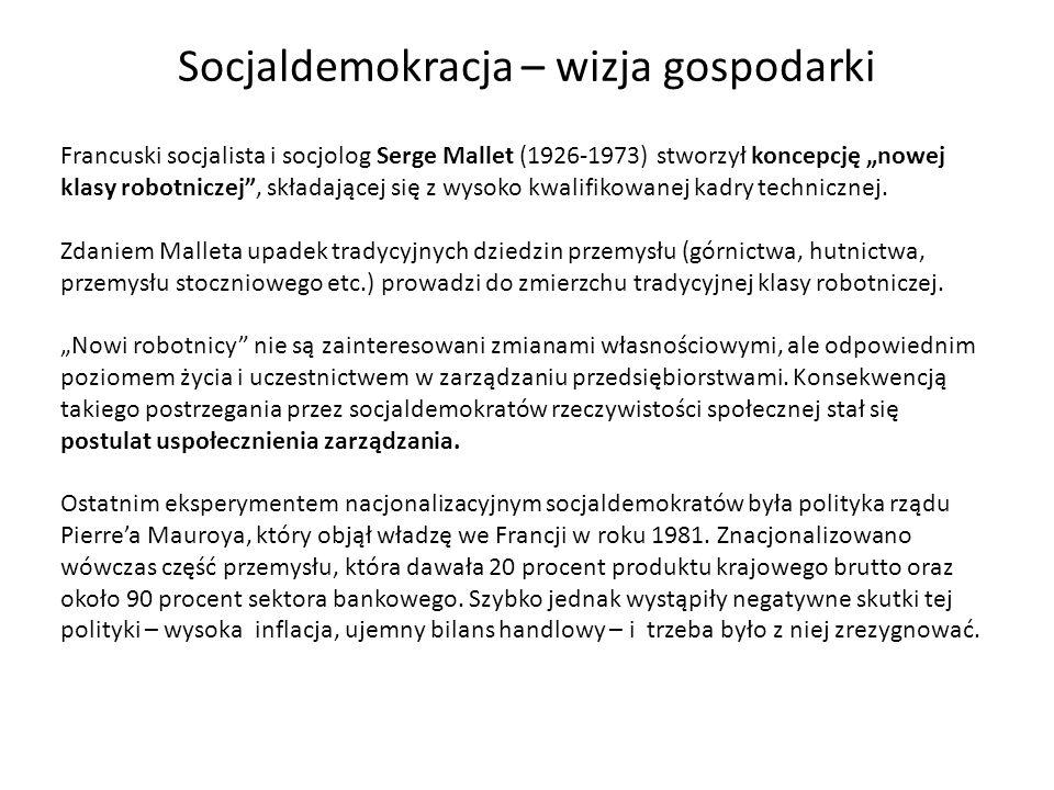 Francuski socjalista i socjolog Serge Mallet (1926-1973) stworzył koncepcję nowej klasy robotniczej, składającej się z wysoko kwalifikowanej kadry tec