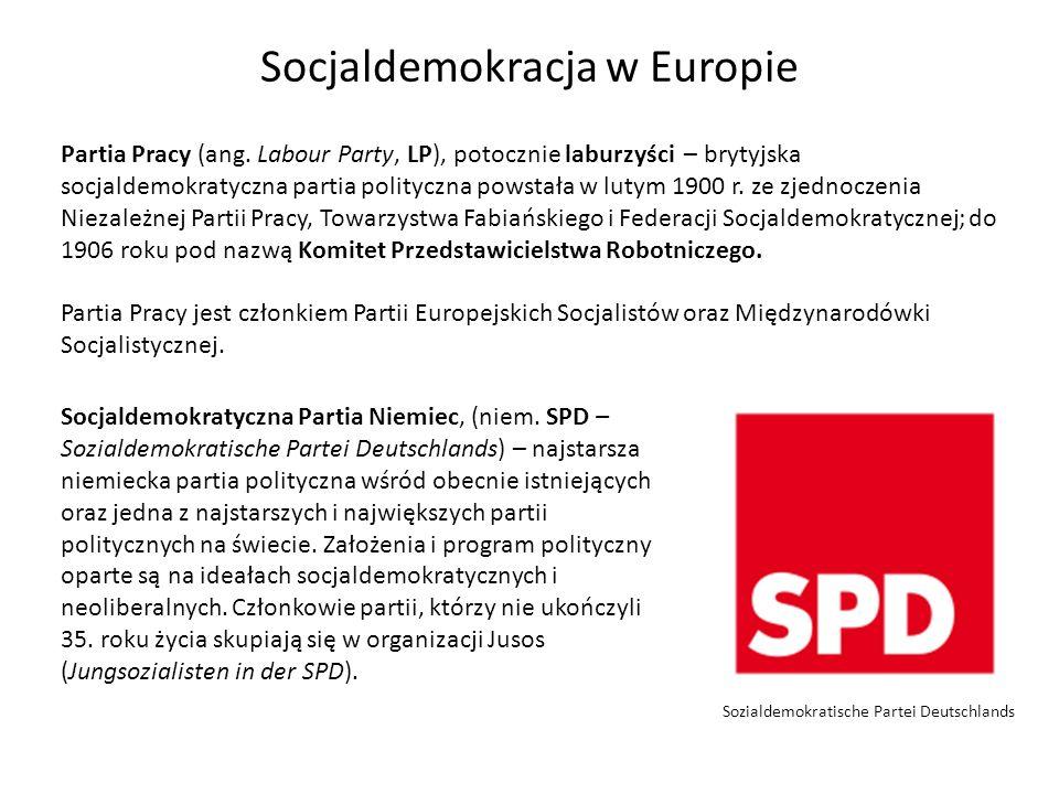 Socjaldemokracja w Europie Partia Pracy (ang. Labour Party, LP), potocznie laburzyści – brytyjska socjaldemokratyczna partia polityczna powstała w lut