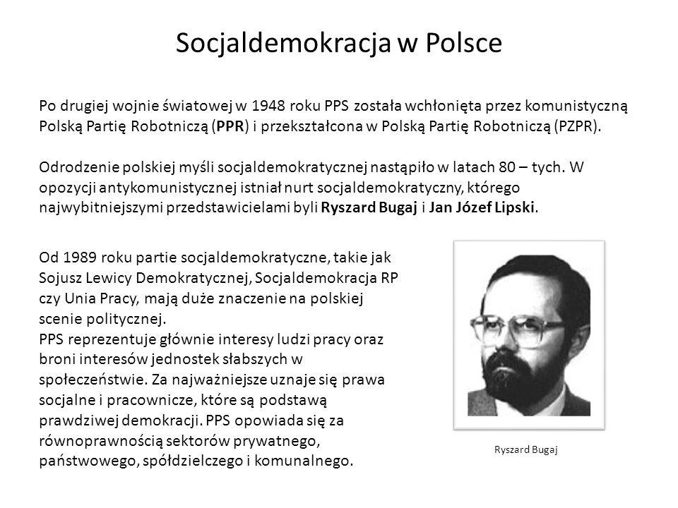 Od 1989 roku partie socjaldemokratyczne, takie jak Sojusz Lewicy Demokratycznej, Socjaldemokracja RP czy Unia Pracy, mają duże znaczenie na polskiej s