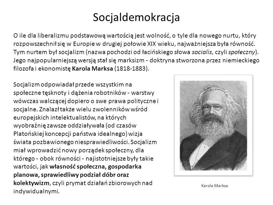 O ile dla liberalizmu podstawową wartością jest wolność, o tyle dla nowego nurtu, który rozpowszechnił się w Europie w drugiej połowie XIX wieku, najw