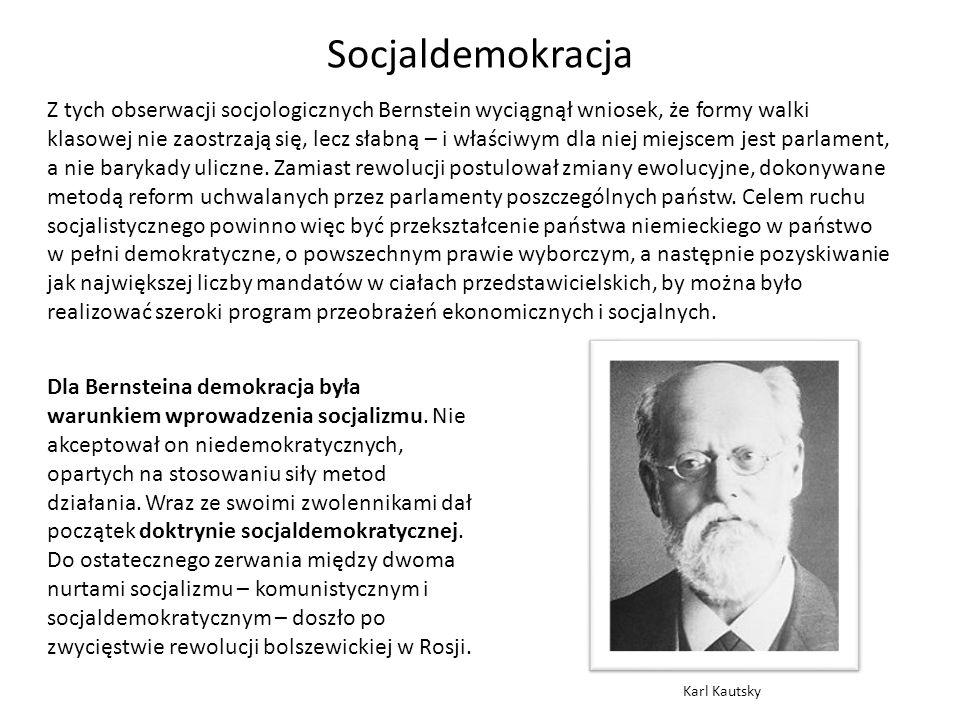 Doktryna socjaldemokracji została przekształcona i nabrała cech programu politycznego na I Kongresie Międzynarodówki Socjalistycznej, który odbył się w roku 1951 we Frankfurcie nad Menem.