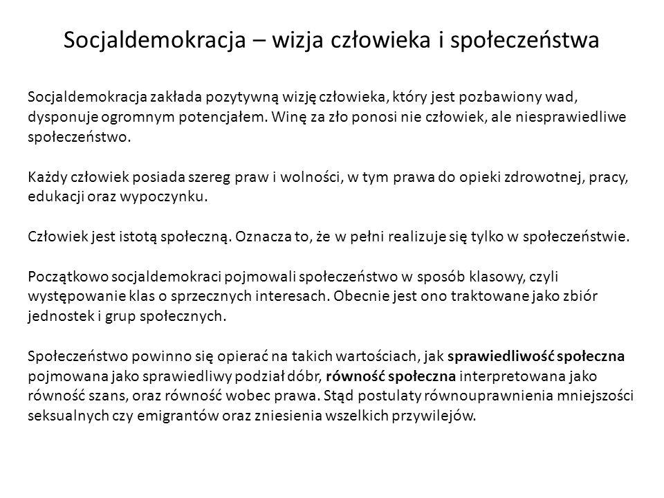 Od 1989 roku partie socjaldemokratyczne, takie jak Sojusz Lewicy Demokratycznej, Socjaldemokracja RP czy Unia Pracy, mają duże znaczenie na polskiej scenie politycznej.