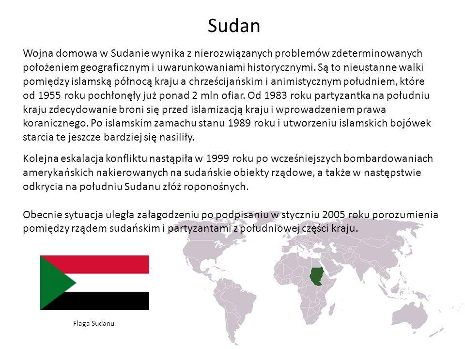 Sudan Wojna domowa w Sudanie wynika z nierozwiązanych problemów zdeterminowanych położeniem geograficznym i uwarunkowaniami historycznymi.
