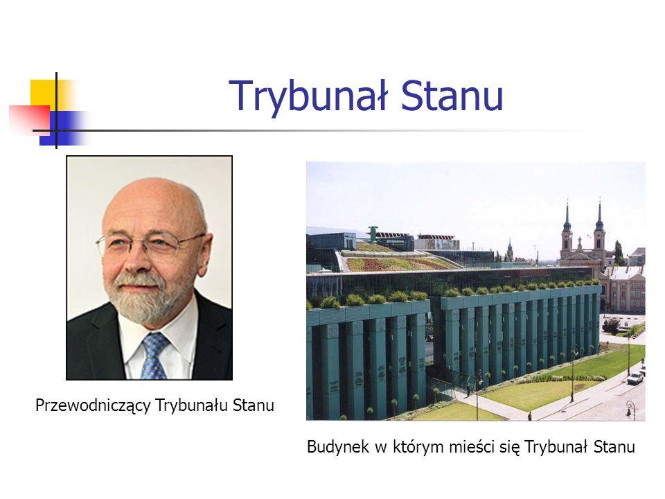 Trybunał Stanu Budynek w którym mieści się Trybunał Stanu Przewodniczący Trybunału Stanu