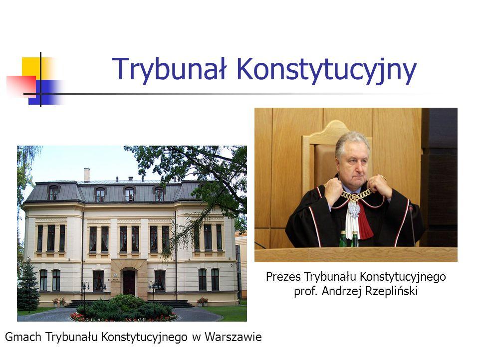 Trybunał Konstytucyjny Gmach Trybunału Konstytucyjnego w Warszawie Prezes Trybunału Konstytucyjnego prof. Andrzej Rzepliński