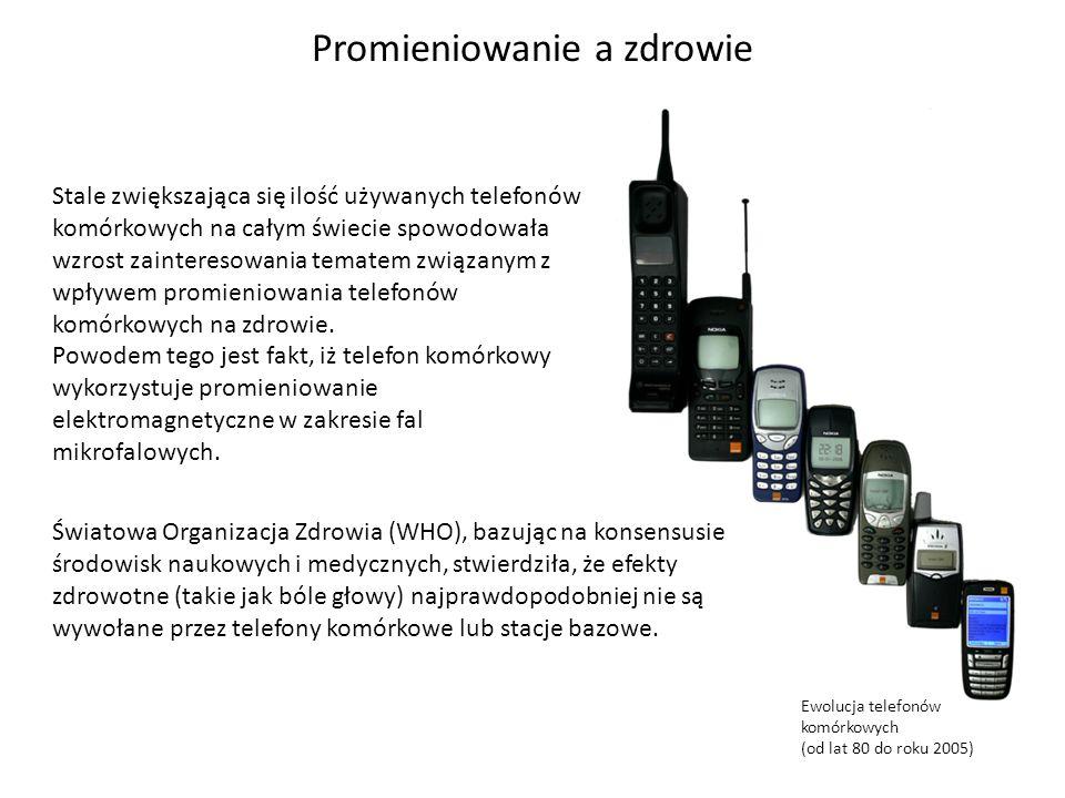 Ewolucja telefonów komórkowych (od lat 80 do roku 2005) Stale zwiększająca się ilość używanych telefonów komórkowych na całym świecie spowodowała wzro