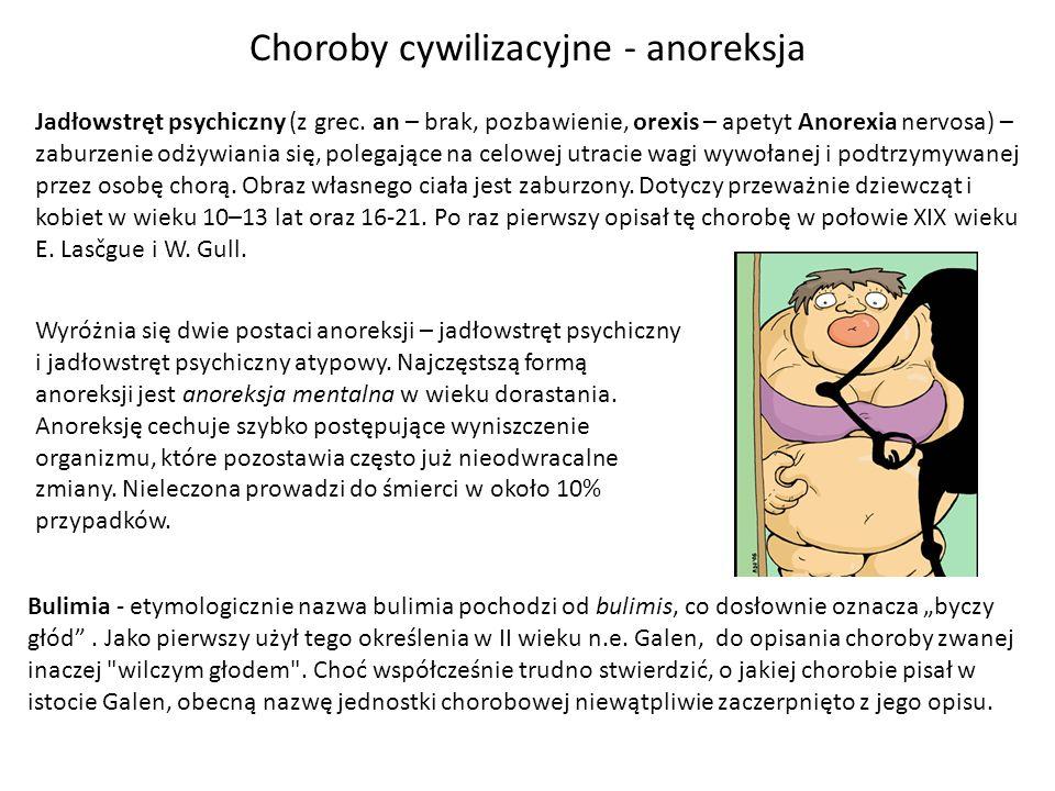 Jadłowstręt psychiczny (z grec. an – brak, pozbawienie, orexis – apetyt Anorexia nervosa) – zaburzenie odżywiania się, polegające na celowej utracie w