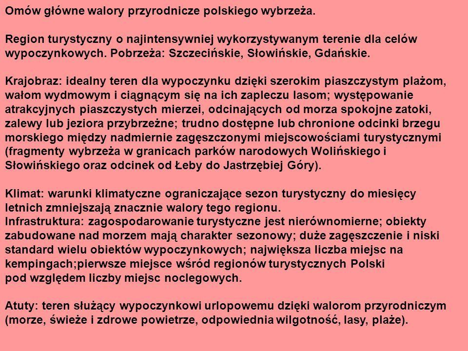 Główne walory turystyczne strefy pojezierzy w Polsce.
