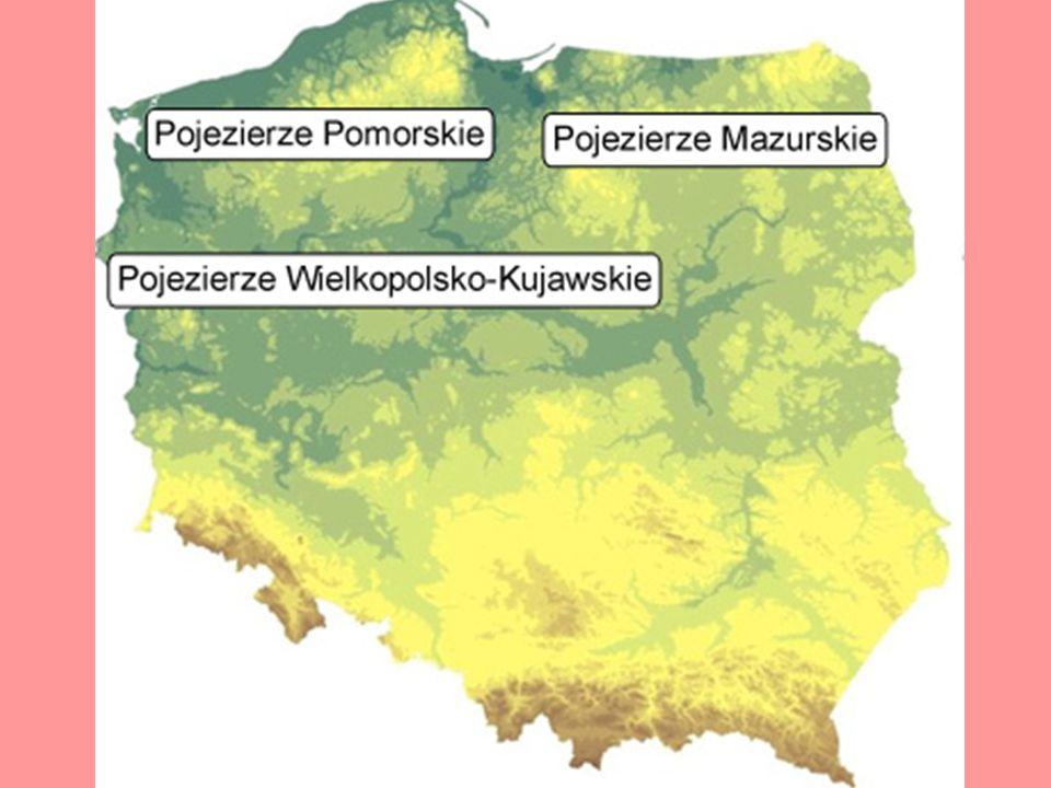 b) Pojezierze Mazurskie i Chełmińsko-Dobrzyńskie Rejon turystyczny: Pojezierza: Brodnickie, Olsztyńskie, Mrągowskie, Kraina Wielkich Jezior Mazurskich, Pojezierze Suwalskie.