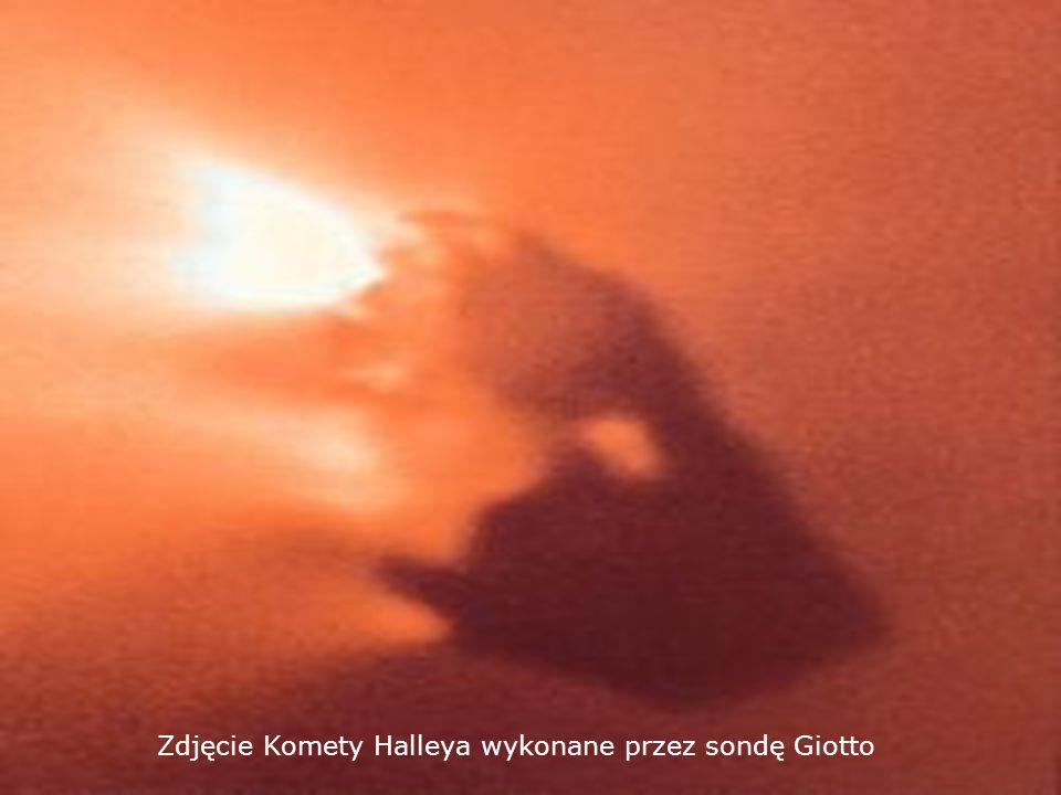Zdjęcie Komety Halleya wykonane przez sondę Giotto