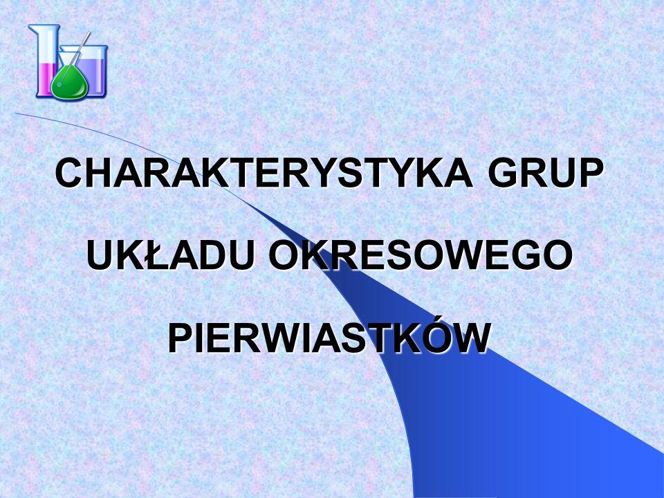PIERWIASTKI GRUP PRZEJŚCIOWYCH c.d.