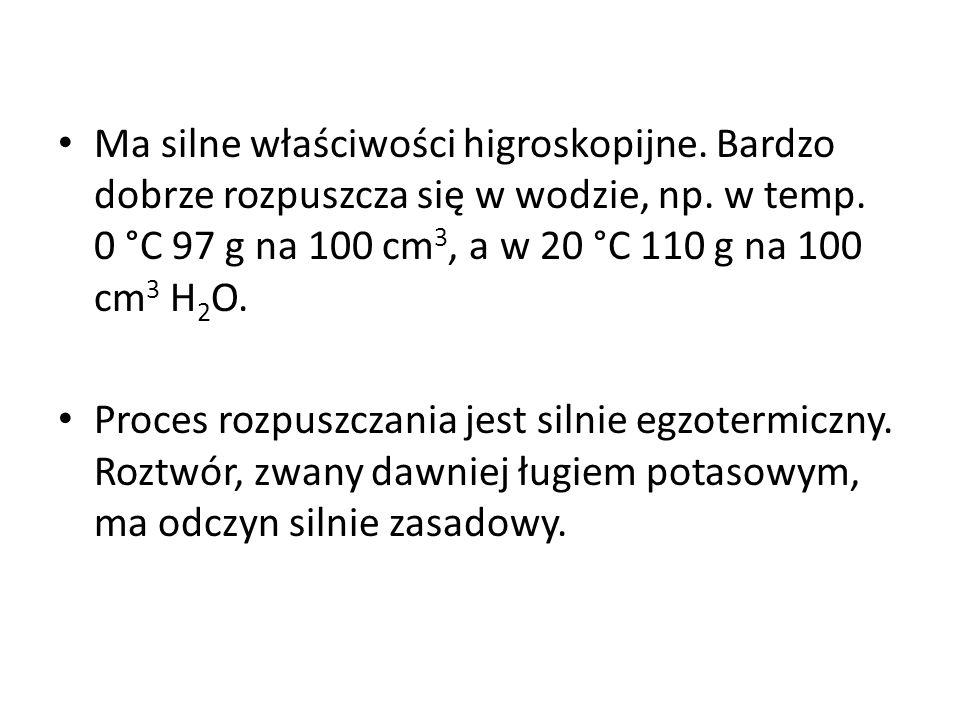 Wodorotlenek potasu (KOH) - wodorotlenek, jedna z najsilniejszych zasada. W standardowych warunkach wodorotlenek potasu jest białym ciałem stałym o gę