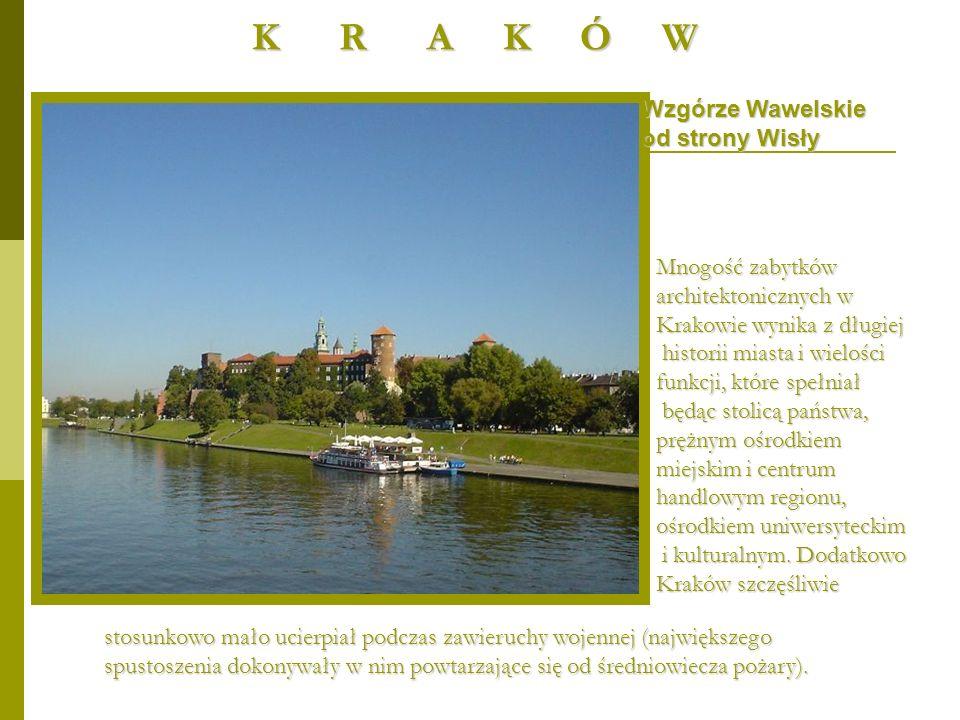 Renesansowy dziedziniec zamku - skrzydło wschodnie i południowe W efekcie Kraków jest jednym z najważniejszych europejskich ośrodków turystycznych z cennymi zabytkami z różnych epok.