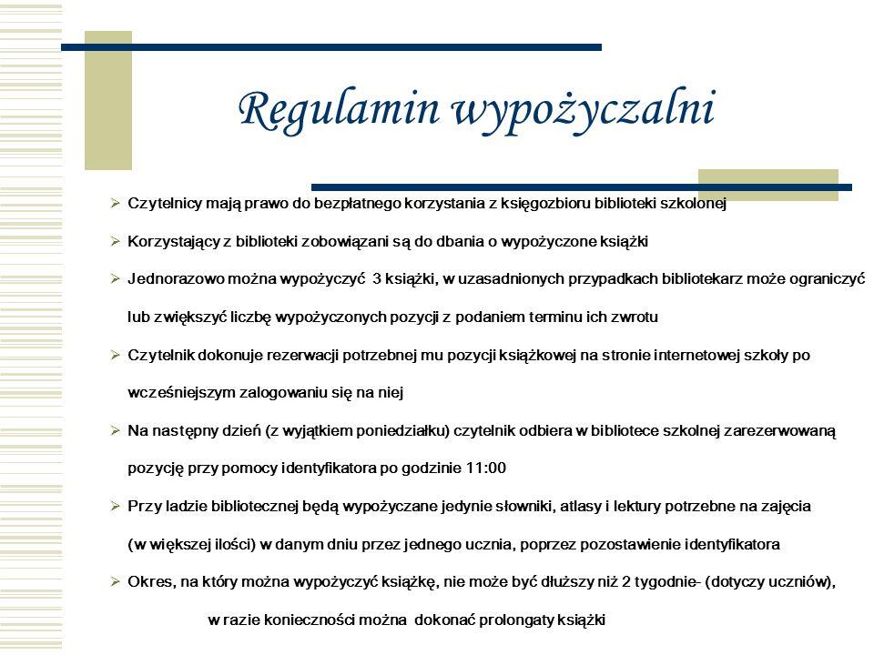 Pracownicy biblioteki: Pani mgr Agnieszka Oleszycka Pani mgr Teresa Głąb