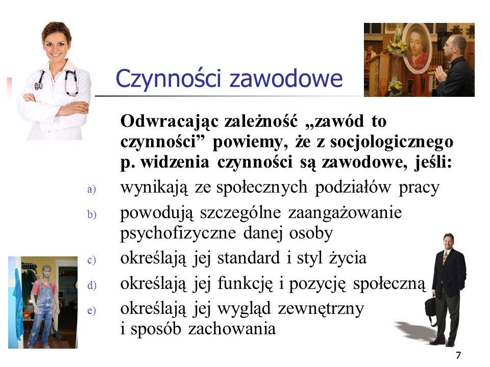 28 Wybór zawodu - motywy Można wskazać następujące: a) zdrowy rozsądek (zob.