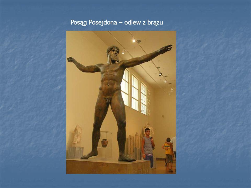 Posąg Posejdona – odlew z brązu