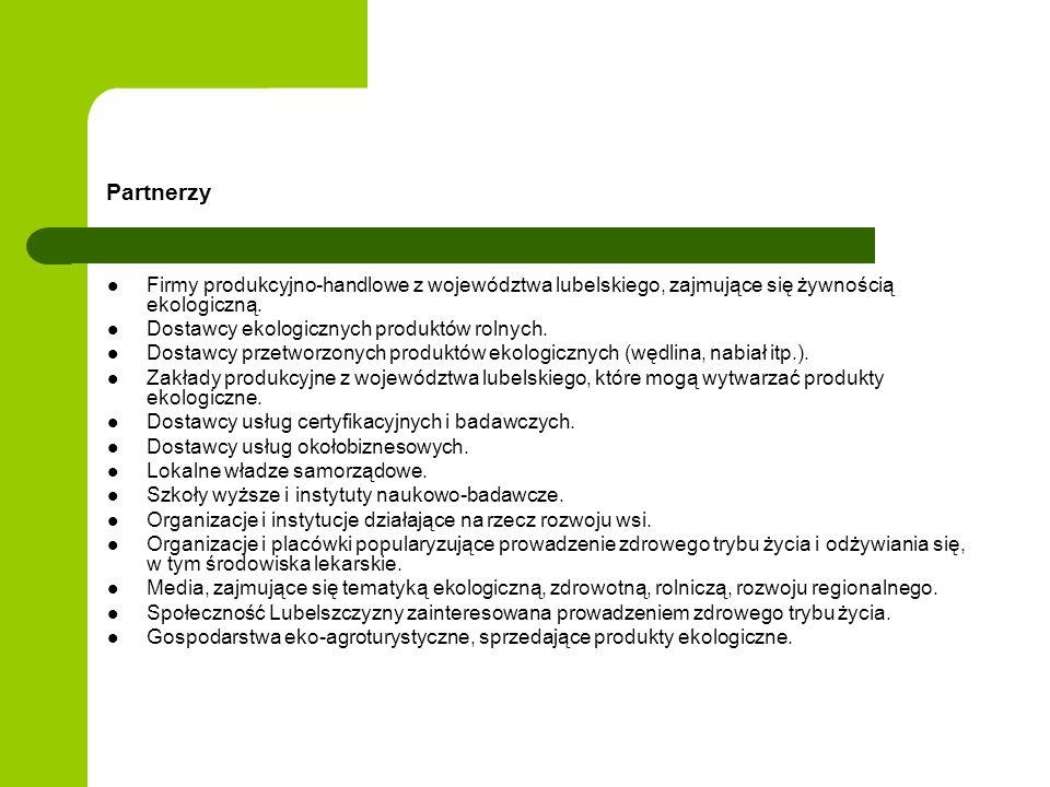 Partnerzy Firmy produkcyjno-handlowe z województwa lubelskiego, zajmujące się żywnością ekologiczną. Dostawcy ekologicznych produktów rolnych. Dostawc