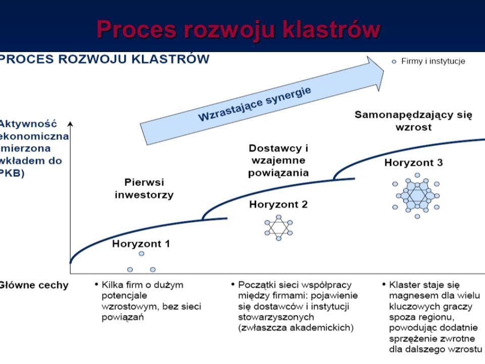 Proces rozwoju klastrów Źródło: McKinsey & Company Poland Sp. z o.o.