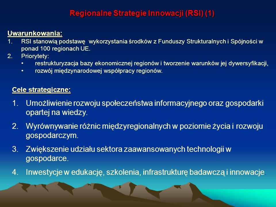 Cele strategiczne: 1.Umożliwienie rozwoju społeczeństwa informacyjnego oraz gospodarki opartej na wiedzy. 2.Wyrównywanie różnic międzyregionalnych w p