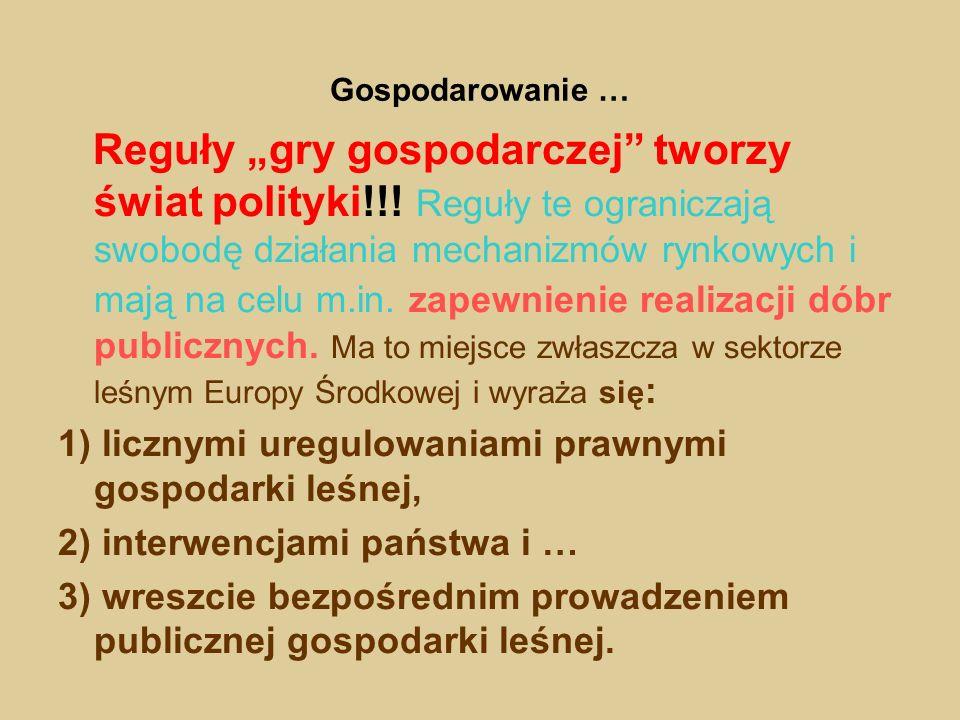 Gospodarowanie … Reguły gry gospodarczej tworzy świat polityki!!! Reguły te ograniczają swobodę działania mechanizmów rynkowych i mają na celu m.in. z