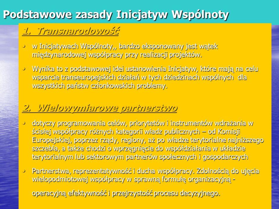 Podstawowe zasady Inicjatyw Wspólnoty 1.