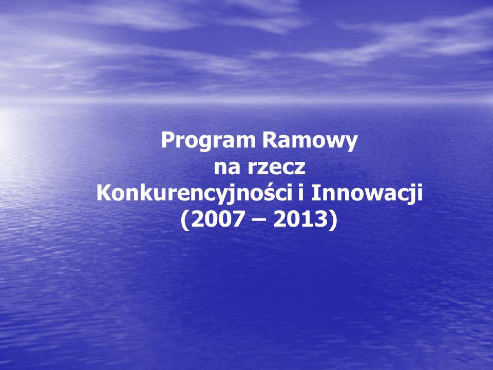 Program Ramowy na rzecz Konkurencyjności i Innowacji (2007 – 2013)