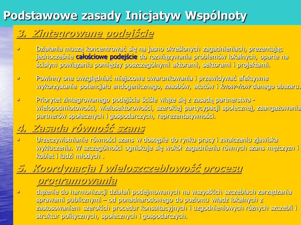Podstawowe zasady Inicjatyw Wspólnoty 3.