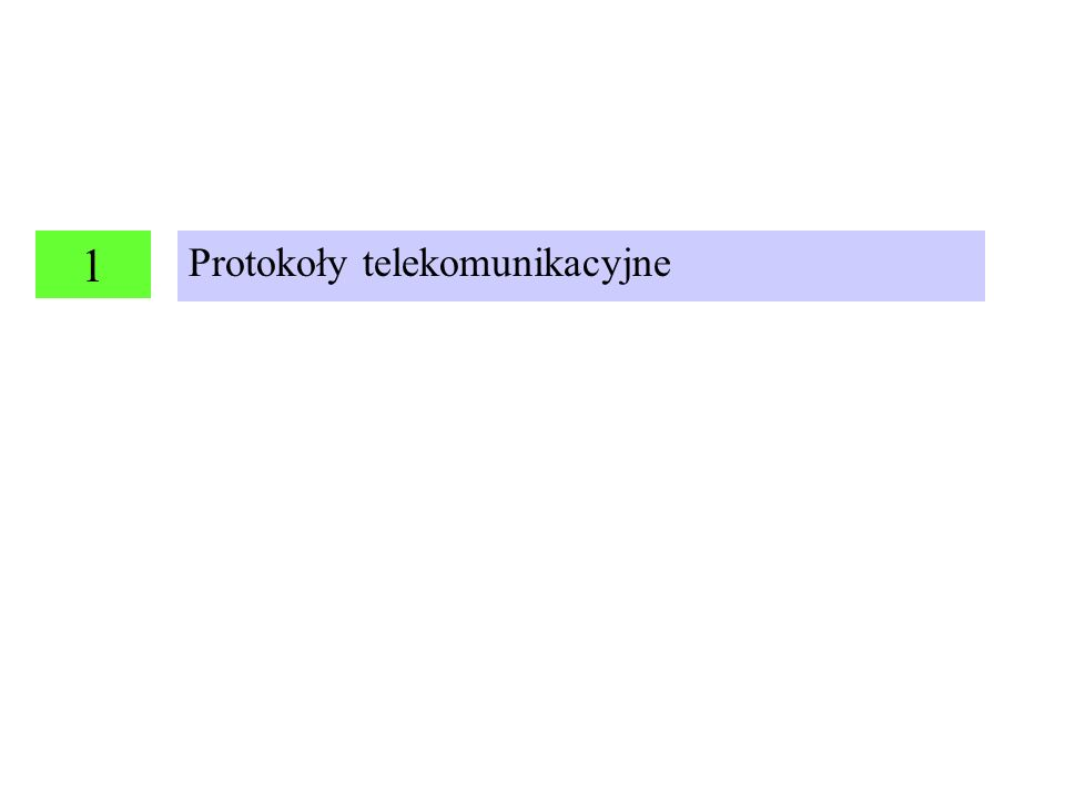 Protokoły telekomunikacyjne 1