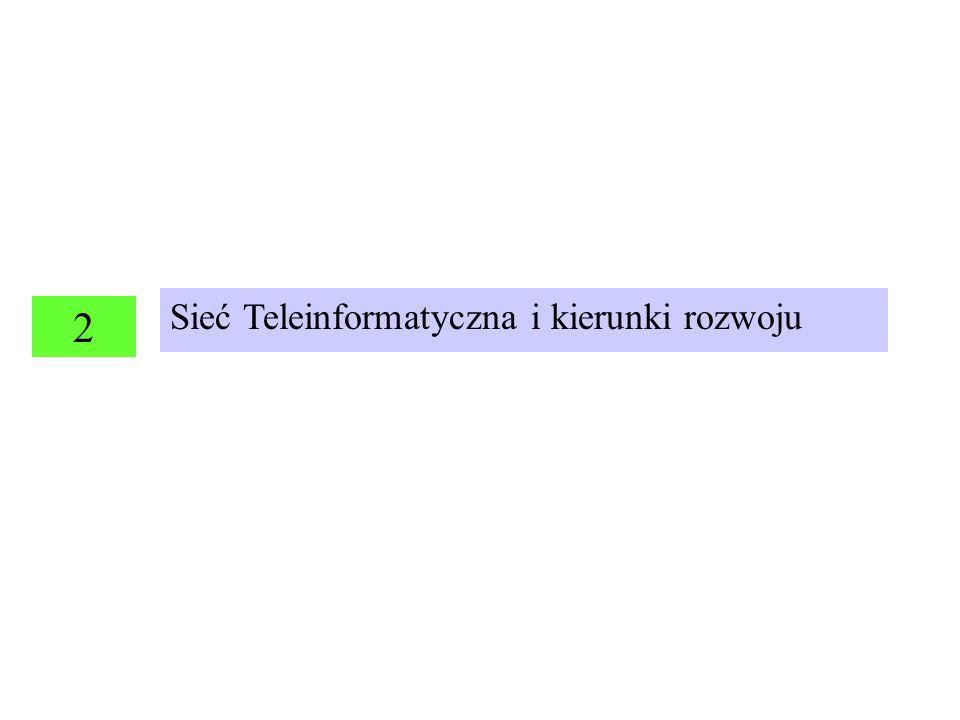 2 Sieć Teleinformatyczna i kierunki rozwoju