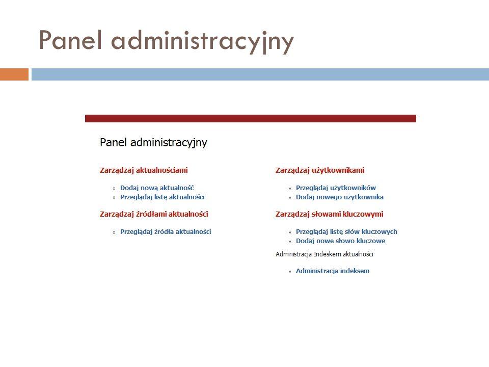 Panel administracyjny