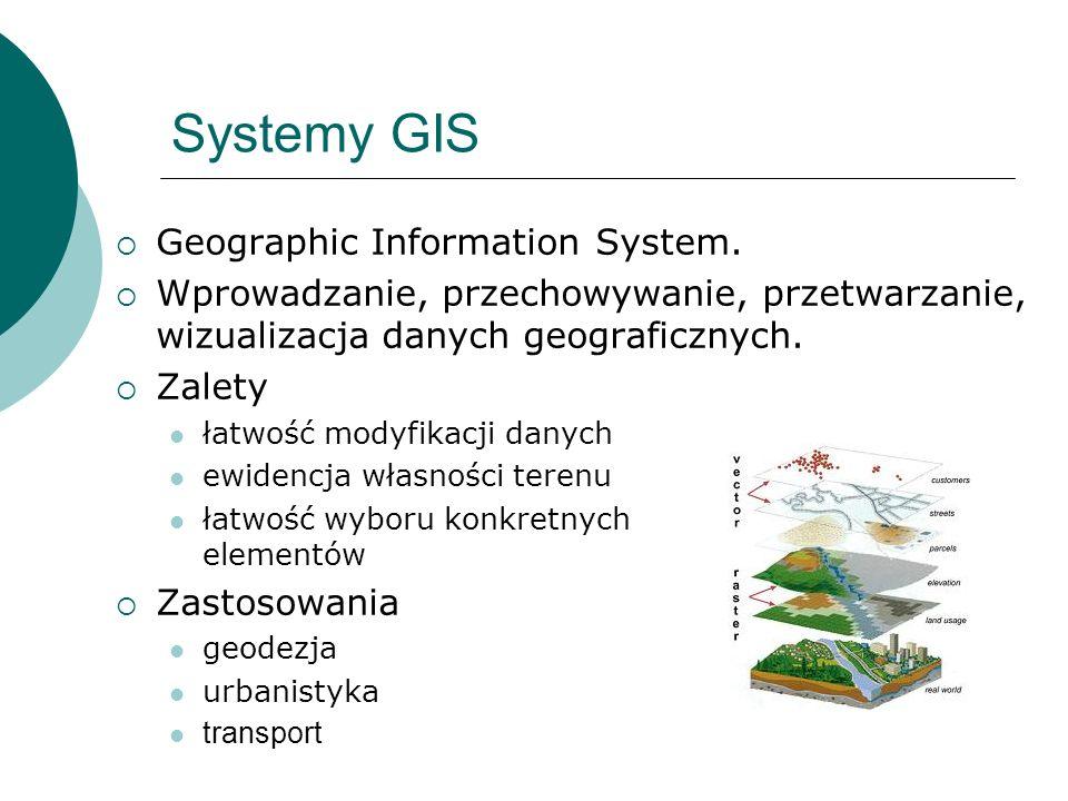 Systemy GIS Geographic Information System. Wprowadzanie, przechowywanie, przetwarzanie, wizualizacja danych geograficznych. Zalety łatwość modyfikacji
