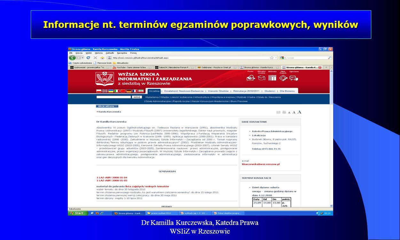 Dr Kamilla Kurczewska, Katedra Prawa WSIiZ w Rzeszowie Platforma udostępnienia online przedsiębiorcom usług i zasobów cyfrowych rejestrów medycznych 31 12 13 http://www.rejestrymedyczne.csioz.gov.pl/aktualnosci
