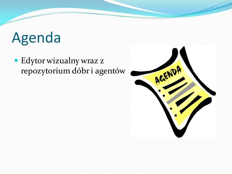 Agenda Edytor wizualny wraz z repozytorium dóbr i agentów