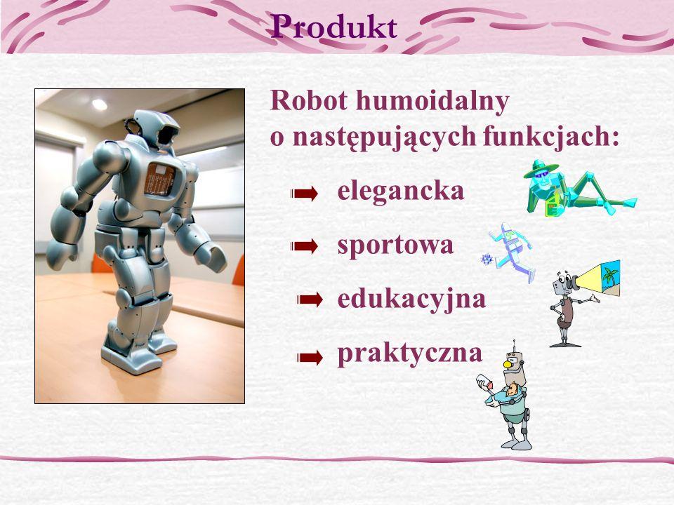 Produkt Robot humoidalny o następujących funkcjach: elegancka sportowa edukacyjna praktyczna