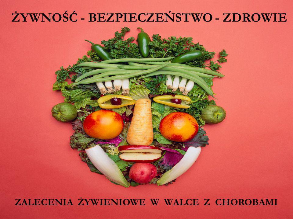 Ogólne zalecenia Chcąc uniknąć choroby nowotworowej, powinniśmy stosować się do ogólnych zaleceń: Wprowadzać jak najmniej toksyn do organizmu; Unikać pestycydów (myć warzywa i owoce); Unikać wysoko przetworzonej żywności; Kupować produkty ze sprawdzonych źródeł (np.
