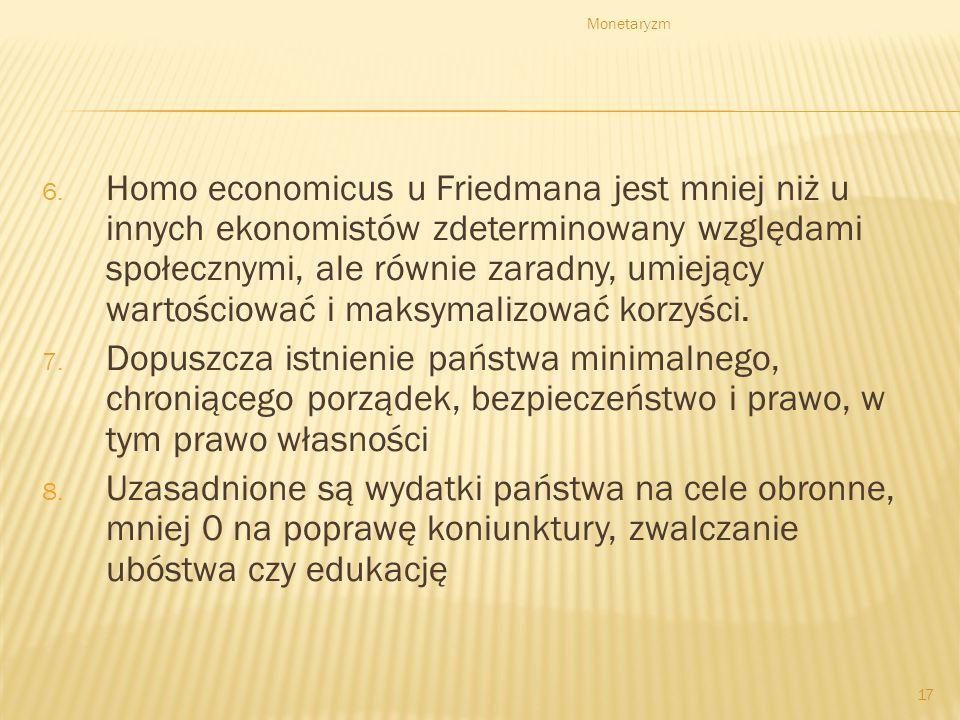 Monetaryzm 16 4. Kapitalizm konkurencyjny polega na organizacji systemu gospodarczego za pomocą prywatnej przedsiębiorczości, operującej na wolnym ryn