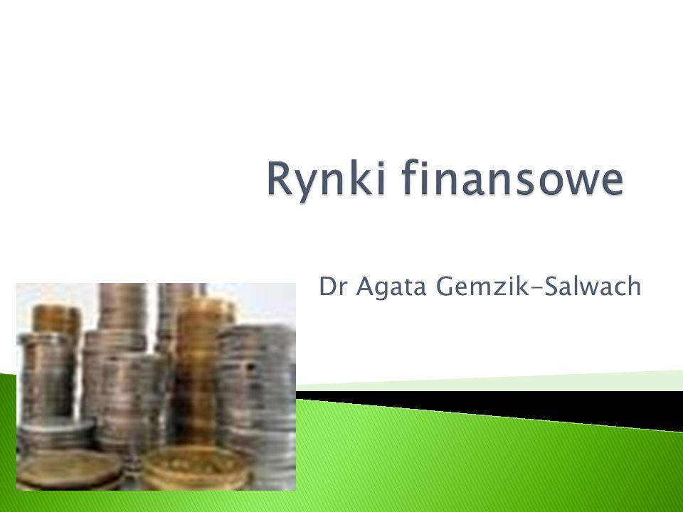 1.Istota rynku 2. Finanse jako zjawisko 3. System finansowy 4.