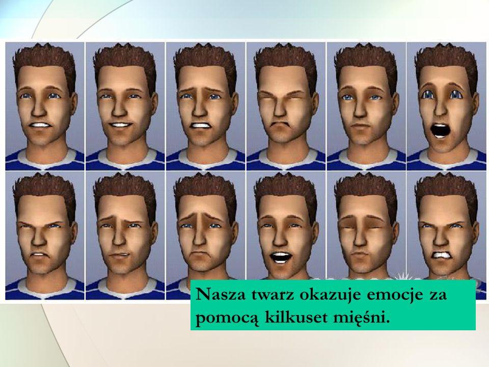 Nasza twarz okazuje emocje za pomocą kilkuset mięśni.