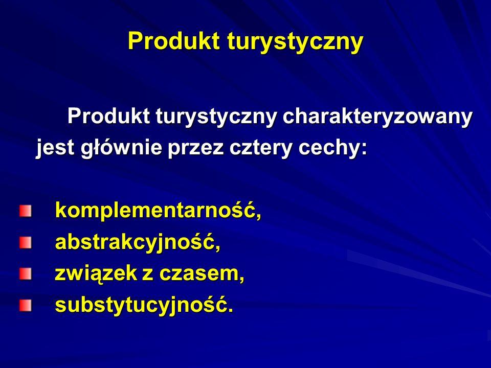 Produkt turystyczny Produkt turystyczny charakteryzowany Produkt turystyczny charakteryzowany jest głównie przez cztery cechy: jest głównie przez czte