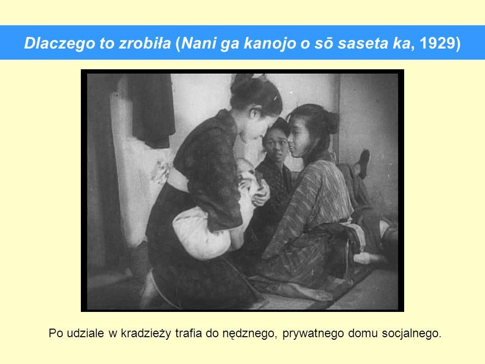 Dlaczego to zrobiła (Nani ga kanojo o sō saseta ka, 1929) Po udziale w kradzieży trafia do nędznego, prywatnego domu socjalnego.