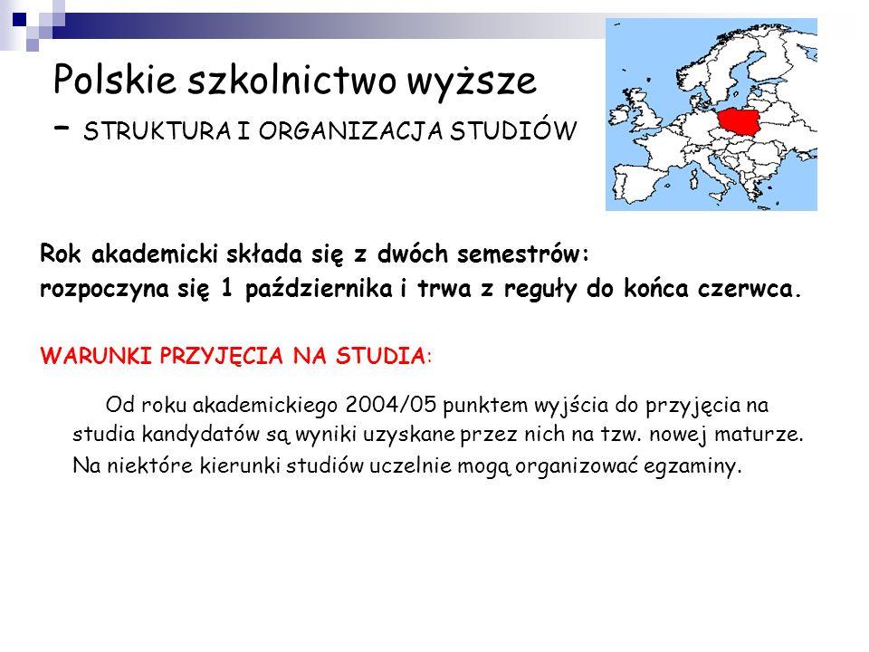 Polskie szkolnictwo wyższe – WŁADZE I FINANSOWANIE Za szkolnictwo wyższe w Polsce odpowiada Ministerstwo Nauki i Szkolnictwa Wyższego (prof. Barbara K