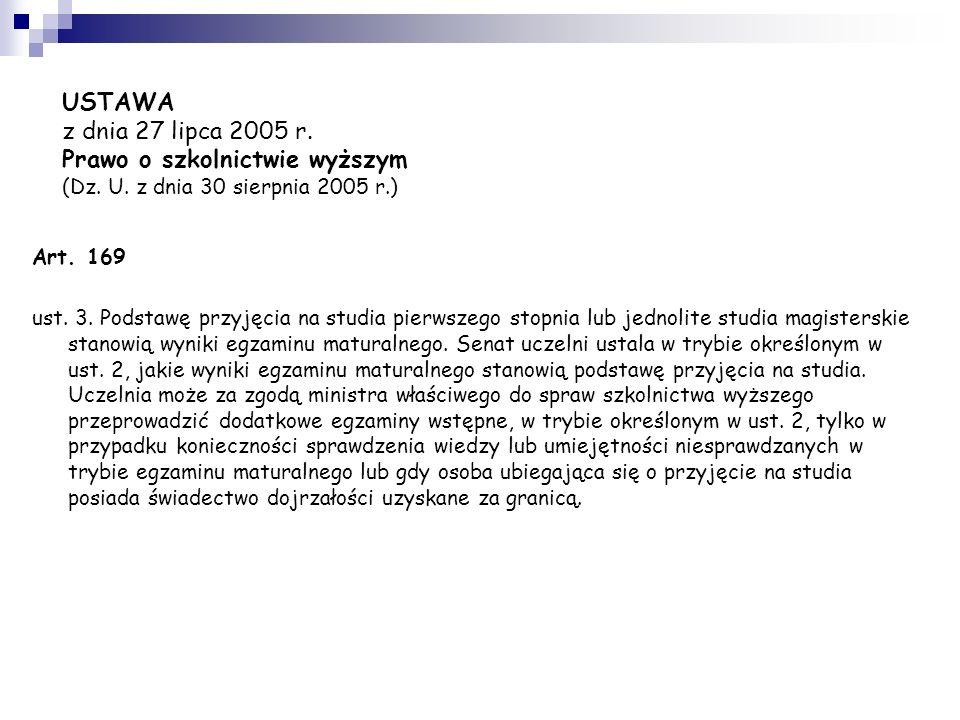 Polskie szkolnictwo wyższe – STRUKTURA I ORGANIZACJA STUDIÓW Rok akademicki składa się z dwóch semestrów: rozpoczyna się 1 października i trwa z reguł