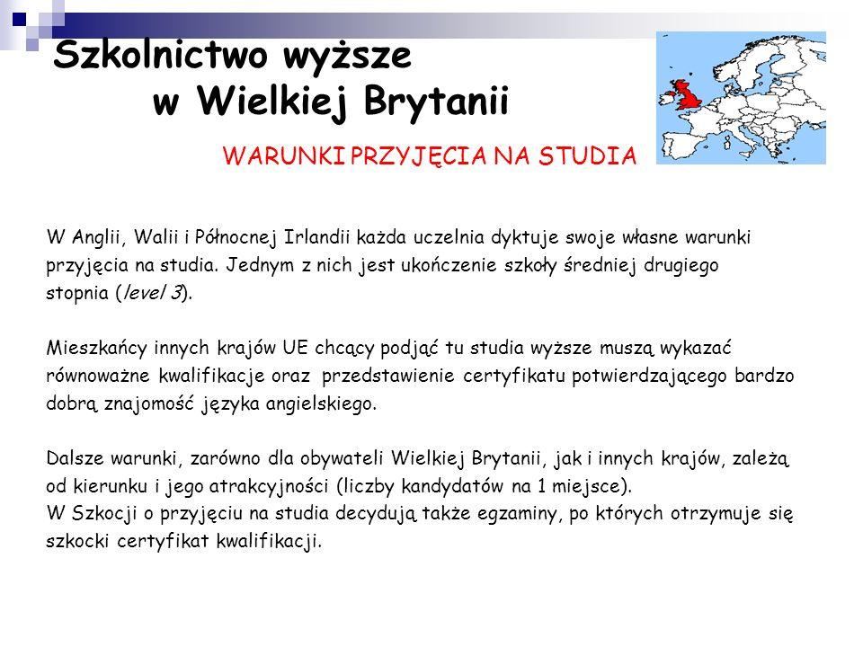 Studiowanie w Wielkiej Brytanii ma nieco inny charakter niż w Polsce. Rok akademicki rozpoczyna się na przełomie września i października, a kończy pod