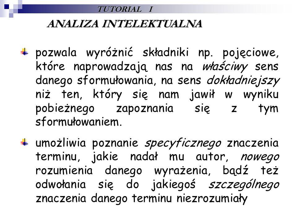 TUTORIAL I ANALIZA I SYNTEZA