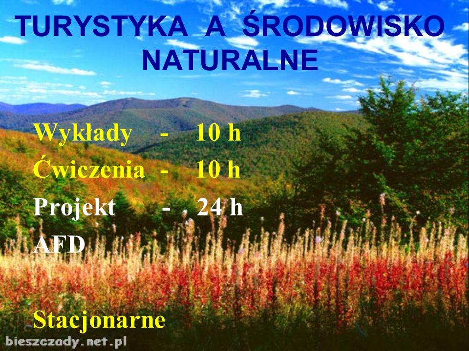 Tematyka wykładów: Wstęp do problematyki turystyki Walory turystyczne Pojęcia: EKOLOGIA i SOZOLOGIA Biosfera i jej elementy Ekosystem i jego elementy